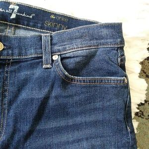 7 For All Mankind Jeans - 7 for all mankind the ankle skinny jeans stretchy